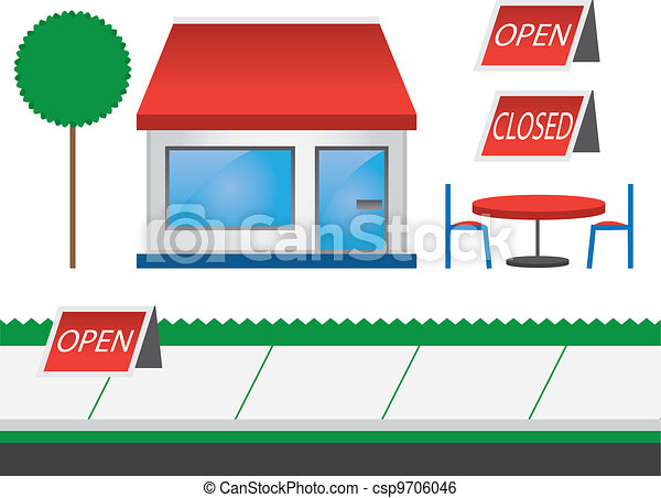 La tienda está roja - csp9706046