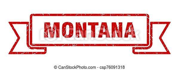 rojo, ribbon., señal, montana, grunge, banda - csp76091318