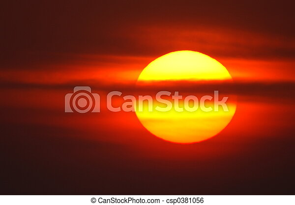rojo, salida del sol - csp0381056