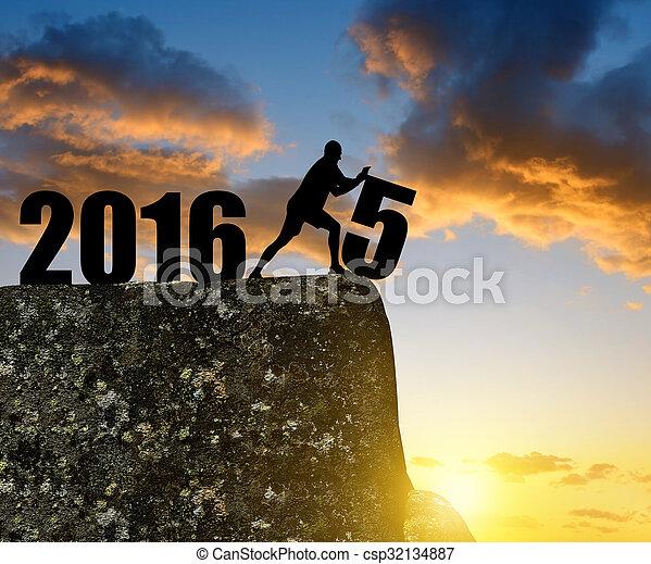 rok, nowy, 2016 - csp32134887