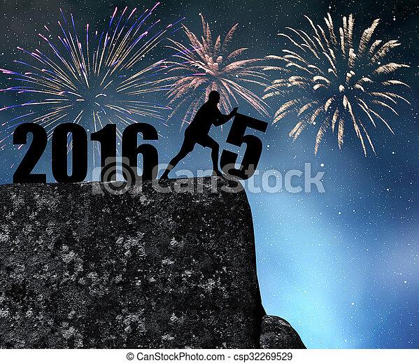 rok, nowy, 2016 - csp32269529