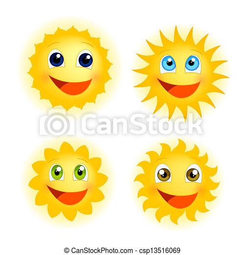 rolig, solsken - csp13516069