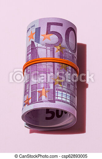 roll of five hundred euro banknotes - csp62893005