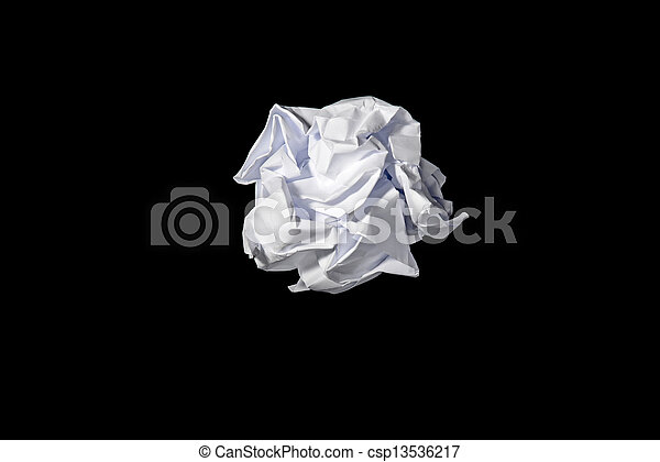 roll of paper waste - csp13536217