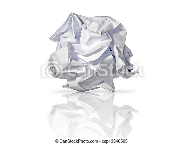 roll of paper waste - csp13546505