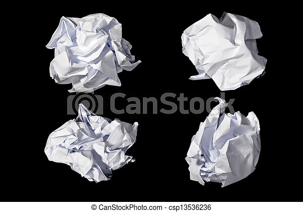 roll of paper waste - csp13536236