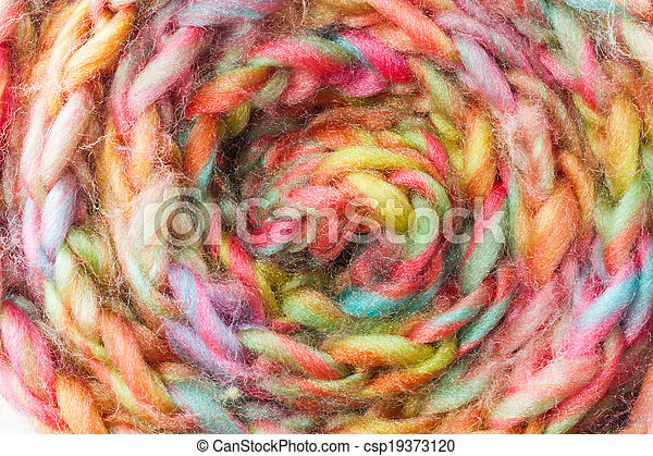 Roll of scarf colorful. - csp19373120
