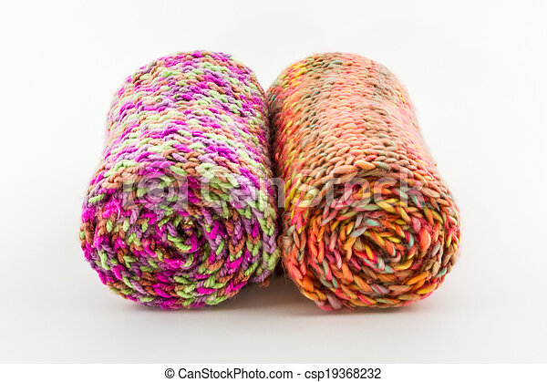 Roll of scarf colorful. - csp19368232