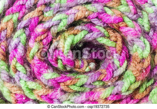 Roll of scarf colorful. - csp19372735