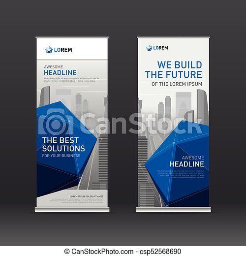 Roll Up Banner Design Layout Corporate Vertical Banner Design Template