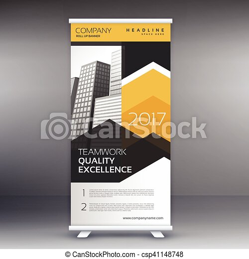 Roll up banner stand design template.