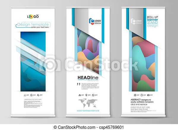 roll up banner stands flat geometric style templates modern