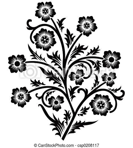 rolle, vektor, cartouche, abbildung, dekor - csp0208117
