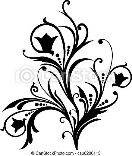 rolle, vektor, cartouche, abbildung, dekor - csp0200113