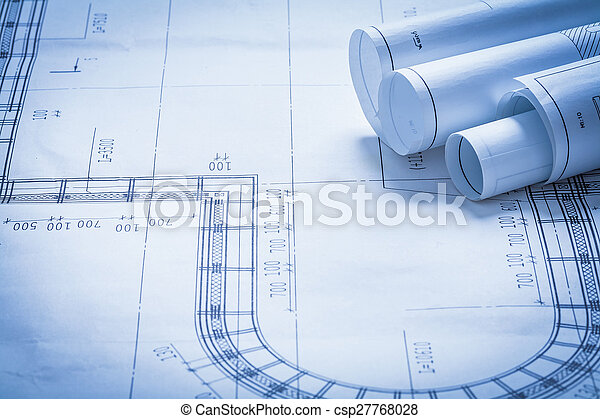 Rolled up blueprint rolls construction concept stock photo rolled up blueprint rolls construction concept stock photo malvernweather Image collections