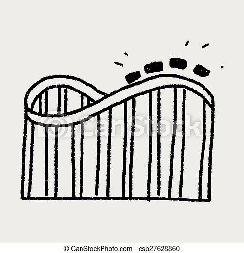 Roller coaster doodle - csp27628860