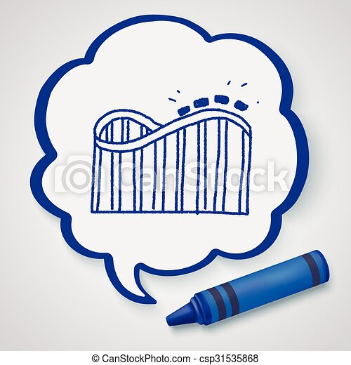 Roller coaster doodle - csp31535868