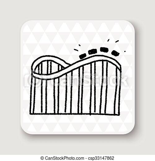 Roller coaster doodle - csp33147862