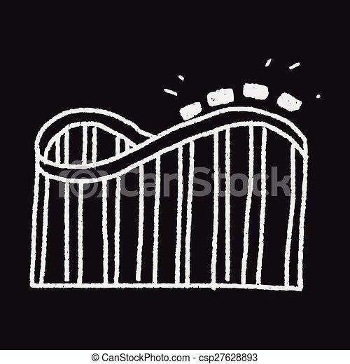 Roller coaster doodle - csp27628893