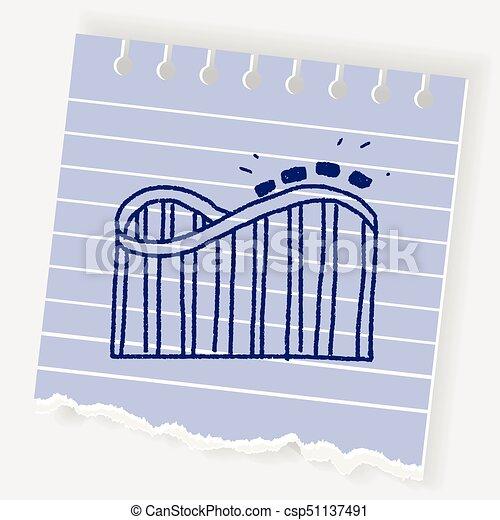 Roller coaster doodle - csp51137491