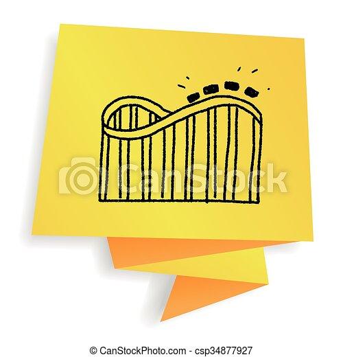 Roller coaster doodle - csp34877927
