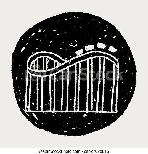 Roller coaster doodle - csp27628815