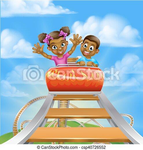 Roller Coaster Fair Theme Park - csp40726552