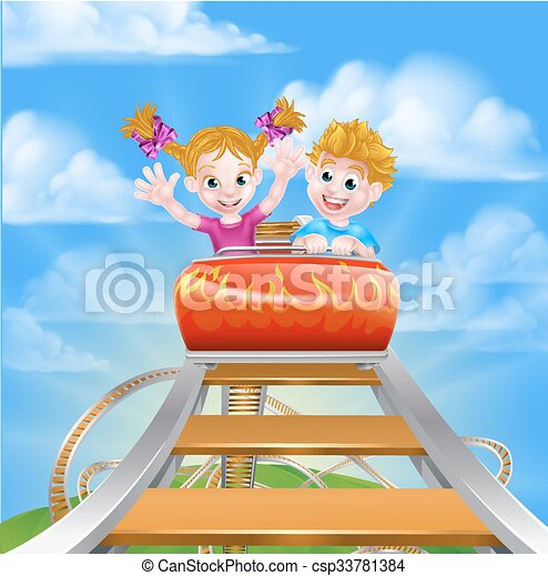 Roller Coaster Fair Theme Park - csp33781384