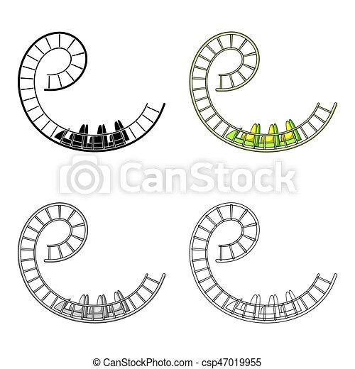Roller Coaster Loop Cartoon