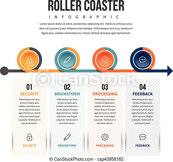 Roller Coaster Infographic - csp43958162