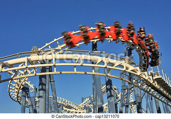 Roller coaster loop. - csp13211070
