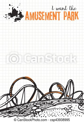 Roller Coaster on Checkered Background - csp43938995