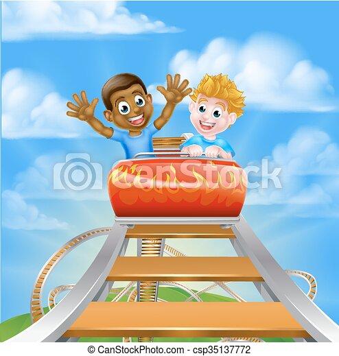 Roller Coaster Theme Park - csp35137772