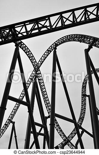 Roller coaster track construction - csp23644944