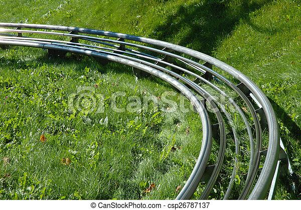 Roller coaster tracks - csp26787137
