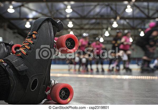 Roller derby skater fall - csp2319801