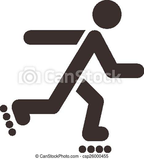 roller skates icon - csp26000455