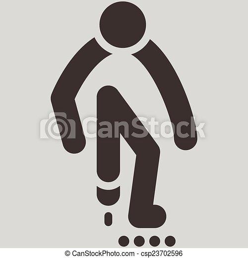 roller skates icon - csp23702596