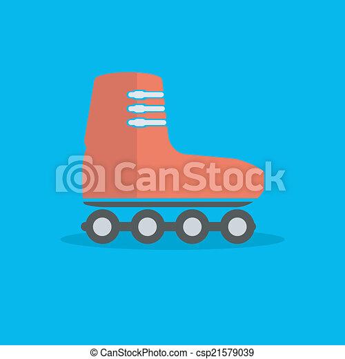 roller-skates icon - csp21579039