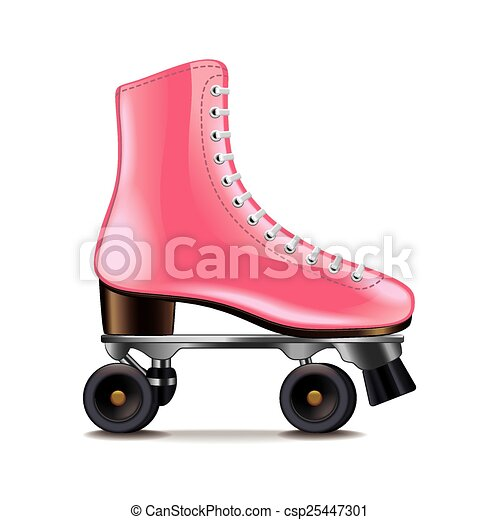 Roller skates isolated on white vector - csp25447301