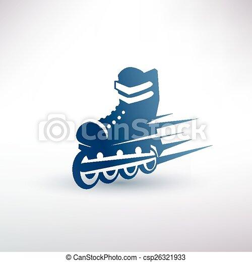 roller skates symbol - csp26321933