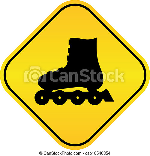 Roller skates vector sign - csp10540354