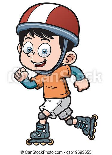 vector illustration of roller skating boy rh canstockphoto com roller skate clipart png roller skate clipart