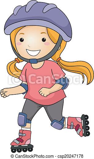 Rollerblade Girl - csp20247178