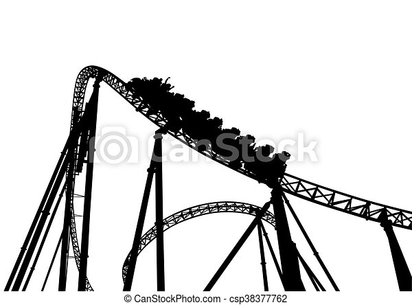 rollercoaster in the park on a white background clip art vector rh canstockphoto com roller coaster clip art free roller coaster clipart transparent background