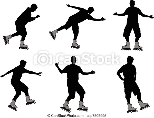 rollers silhouettes - csp7808995