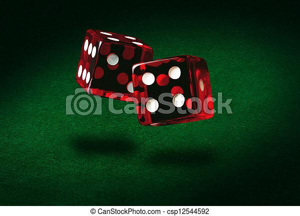 rolling dice - csp12544592