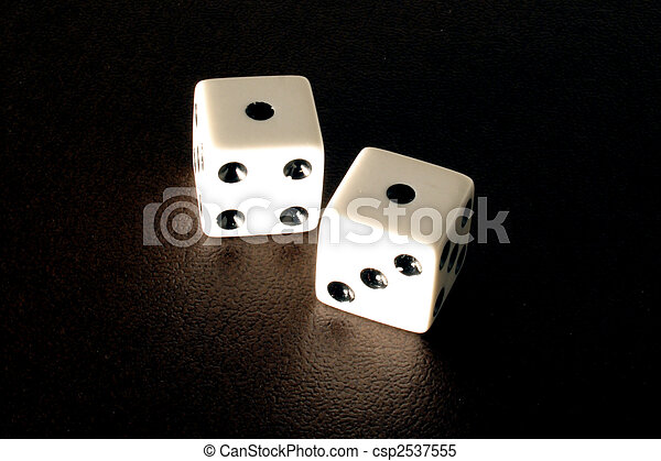 Rolling Snake Eyes on a Pair of Dice - csp2537555