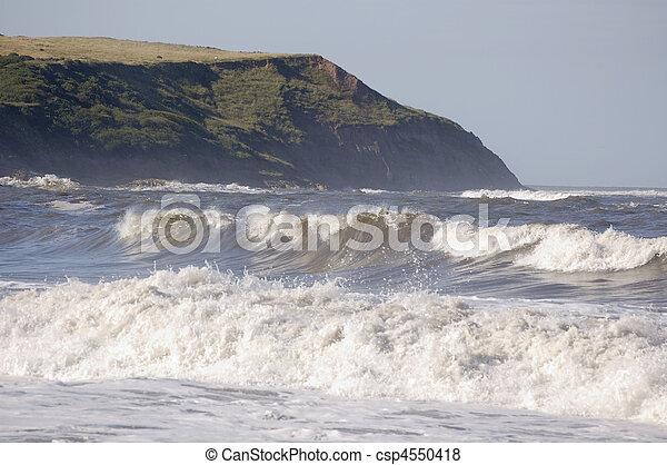 Rolling waves at Scarborough - csp4550418