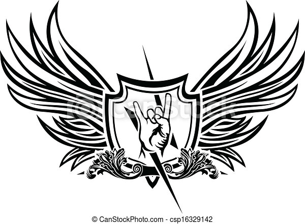 El símbolo vector del rock and roll - csp16329142